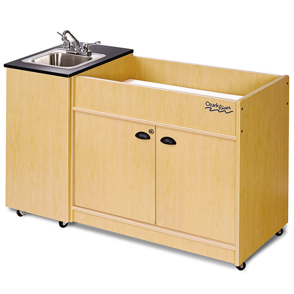 Ozark River Kiddie Station 1 – Portable Sink and Baby Changing Table, Stainless  Steel Basin