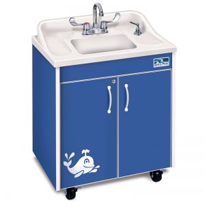 Marvelous Ozark River Lil Premier Splasher Portable Hot Water Sink, Child Height, ABS  Top And Basin
